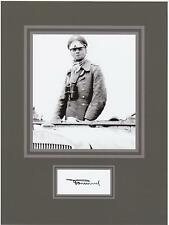 GEN. ERWIN ROMMEL 8x10 REPRINT PHOTO & REPRINT AUTOGRAPH ON GLOSSY PHOTO PAPER