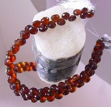 NATURAL TRANSLUCENT FACETED GEM GRADE HESSONITE GARNET ONION  BRIOLETTE BEADS