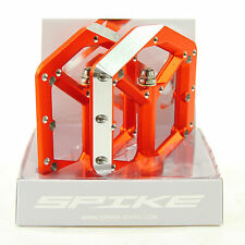 Spank Spike Ultralite Flat DH Mountain Bike Pedals, Orange