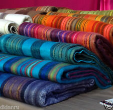 WHOLESALE LOT of 35 ALPACA WOOL BLANKETS PLAIDS STRIPED MULTICOLOUR HANDMADE