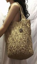 The Sak large Knit Tan Tote Shoulder Bag, Purse, Bag