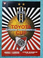 1996-Club Coppa del Mondo programma finale-JUVENTUS V River Plate-V.G condition