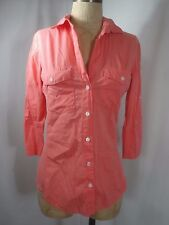 JAMES PERSE Style WLC321CU Contrasting Panel Button Front Shirt Size 2 - Medium