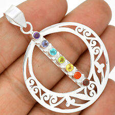 Healing Chakra - Amethyst 925 Sterling Silver Pendant Jewelry SP223377