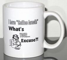"""Nine(9) Funny Coffee Cup Mugs """"I have Coffee Breath, What's YOUR Excuse?!"""" BULK"""