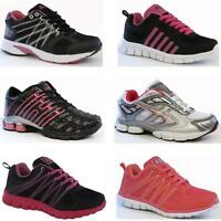 LADIES TRAINERS WOMENS GIRLS SPORTS WALKING LACE UP RUNNING SCHOOL GYM SHOE SIZE