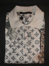 Louis Vuitton NOT TO DOT MONOGRAM CHAPMAN ANIMALS Men's Polo Shirt. M.
