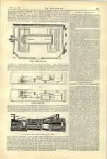 1893 Buckeye Engine Plan Section Through Valve Chests