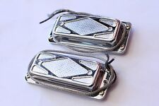 Carl De Armond USA Silver Foil Guitar Pickup Set Custom Vintage, Neck Bridge