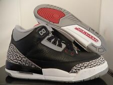 NIKE AIR JORDAN 3 RETRO (GS) BLACK-RED-CEMENT SZ 4.5Y-WOMENS SZ 6 [398614-010]
