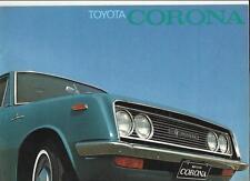 Toyota Corona folleto de ventas finales Años 60