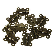 10pcs Mini Butterfly Style Hinges for Dolls Houses Jewelry Box - Gold BT