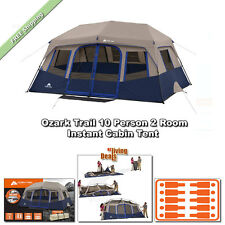 Ozark Trail Instant Cabin Tent 10 Person 2Rm 14x10' Outdoor Family Camping Tents