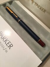 RARE PARKER 88 PLACE VENDOME MATT BLUE GT BALLPOINT PEN-BOXED-NR MINT