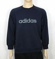 ADIDAS VINTAGE NAVY BLUE SWEATER JUMPER RETRO RARE SIZE S SW99