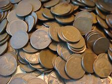 1 Roll of 1909-1958 Wheat Pennies - 50 Penny Cent  Coins  #1007