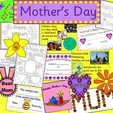 MOTHER'S DAY risorsa Pack su CD-primario, eyfs, KS1-paternalismo DOMENICA