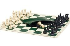 USCF Sales Basic Chess Set Combo - Single Weighted Regulation Pieces | Vinyl Che