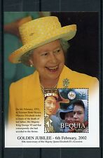 Bequia Gren St Vincent 2002 MNH Queen Elizabeth II Golden Jubilee 1v S/S Stamps