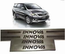 Premium Stainless Steel Door Sill Scuff Plates Footstep Toyota Innova - Set of 4