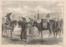 Ca 1896 SKETCHES IN BURMAH A GROUP OF SHANS