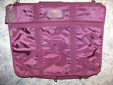 Vintage PIERRE CARDIN burgundy canvas garment suit bag luggage travel lock key