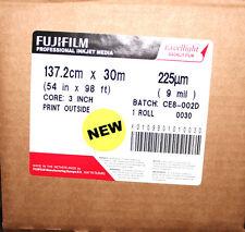 1 ROLL FUJIFILM INKJET MEDIA 137.2CM X 30M 54 IN X 98 FT CORE 3IN 9 MIL CE8-003C