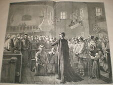 Life in Russia The Black Bench Preaching to Criminals before Exile 1873 print