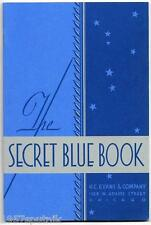 100 H.C. Evans 1932 Secret Blue Book Slots  Gambling Items Catalogs 1978 Reprint