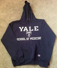 YALE UNIVERSITY School of Medicine NAVY BLUE HOODED HOODIE SWEATSHIRT SIZE SMALL