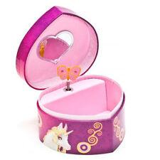 MIA E ME portagioie a cuore viola con carillon carica manuale da bambina