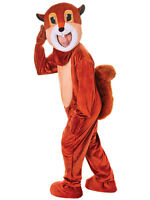 Adult Mens Ladies Squirrel Mascot Fancy Dress Big Head Costume Animal Outfit New