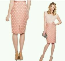 NWT $169 GUESS BY MARCIANO PENCIL SKIRT IN PINK AND GOLD SZ 0