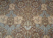 William Morris Curtain Fabric 'Honeysuckle & Tulip' 1.7 METRES Bullrush/Slate