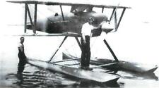 CURTISS SCHNIEDER CUP RACER NAVY SEAPLANE BIPLANE AIRPLANE LT VIEW 5X7 B&W PHOTO