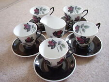 Royal Albert England porcelain tea set,Masquerade,11 pieces