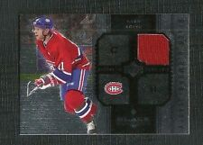 SAKU KOIVU 04-05 UPPER DECK BLACK DIAMOND GAME WORN JERSEY MONTREAL CANADIENS