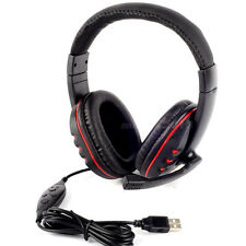 PRO USB Stereo Headphone Microphone with MIC GAME Gaming Headset For PS3 Laptop
