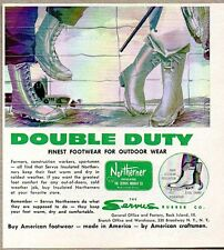1960 Print Ad Northerner Hunting Fishing Boots Servus Rubber Co Rock Island,IL