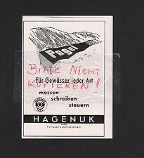 KIEL, Werbung 1960, HAGENUK vormals NEUFELDT & Kuhnke GmbH