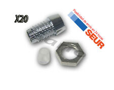 20X Soportes Cromados para LED 3 mm Portaled
