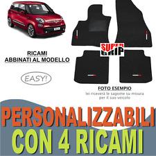 TAPPETINI AUTO SU MISURA PER FIAT 500L IN MOQUETTE E FONDO GOMMA + 4 RICAMI EASY