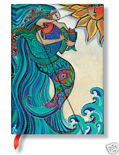 Paperblanks Laurel Burch Lined Writing Journal Ocean Song Mermaid Midi 5X7 NWT