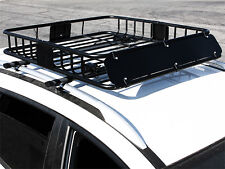 HD Black Steel Roof Basket Carrier Rack Car Top Luggage Cargo Storage Traveling