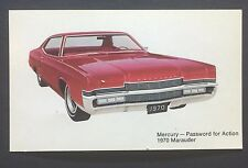 1970 MERCURY MARAUDER promotional postcard (for dealers use)....ever owned one??