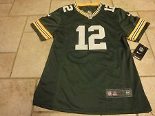 Nike NFL Green Bay Packers Aaron Rodgers #12 Sewn Football Jersey Girls XXL New