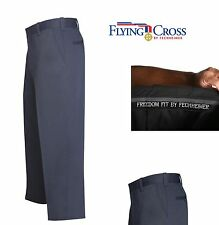"FLYING CROSS FECHHEIMER RESPONSE WEAR UNIFORM MENS FATIGUE PANTS NAVY 30"" NO HEM"