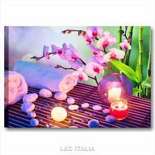 Zen fiori benessere 4 QUADRO MODERNO 70x50 QUADRI TELA ARREDAMENTO CENTRO SPA