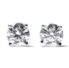 STERLING SILVER 925 ROUND CZ 7mm STUDS PUSHBACK MENS OR LADIES EARRINGS
