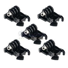 5x Black Buckle Basic Mount Adapter Clips for GoPro Hero 4s/4/3+3/2/1 Camera